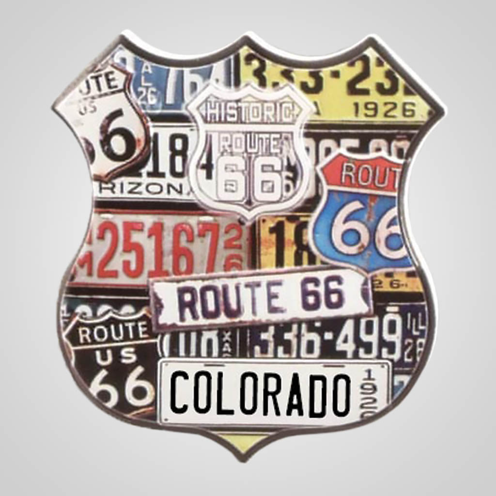 40066 - Route 66 License Plate Shield Magnet