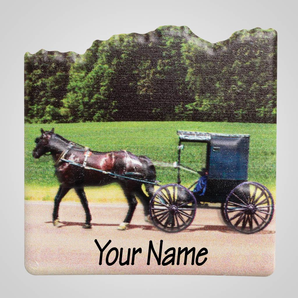 40067 - Amish Buggy Dimensional Magnet, Name-Drop