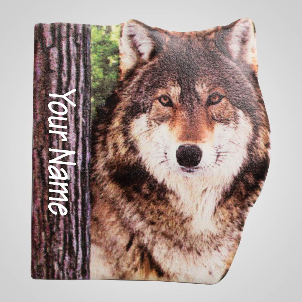 40068 - Wolf Dimensional Magnet, Name-Drop