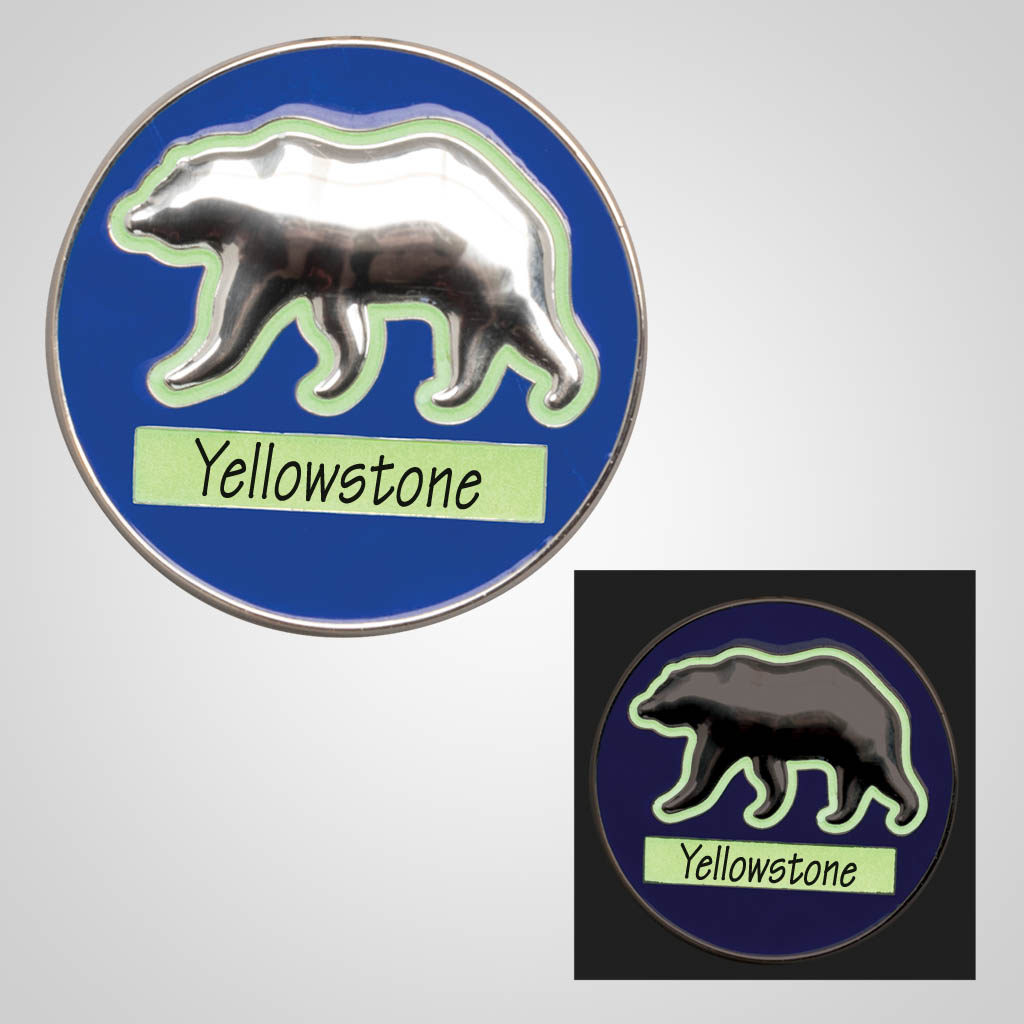40076 - Glow In The Dark Bear Magnet, Name-Drop