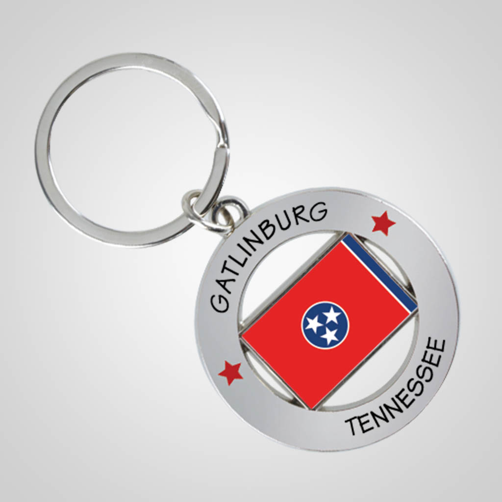 40089JPM - State Flag Key Chain, Multi-Color