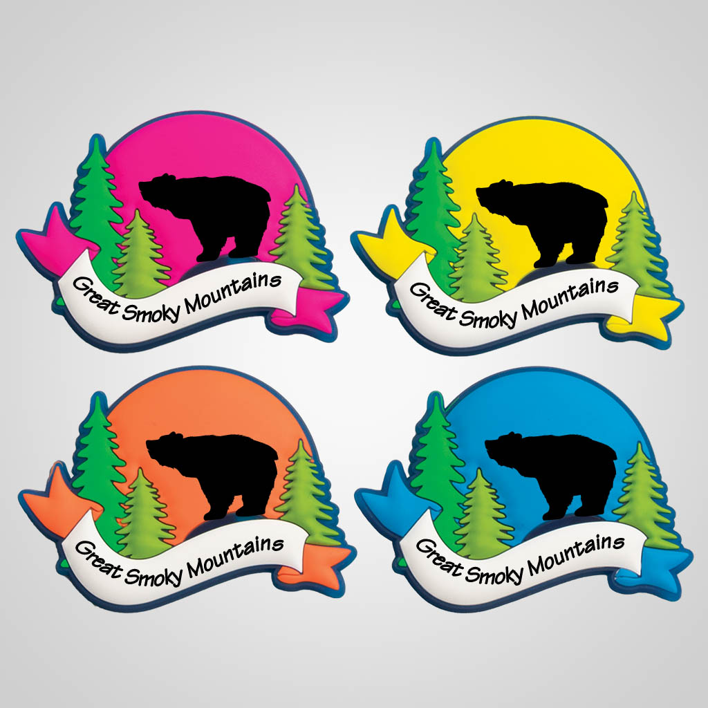 40095BEA - Colorful Arch PVC Magnet, Bear Design