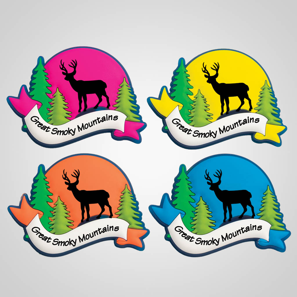 40095DEE - Colorful Arch PVC Magnet, Deer Design