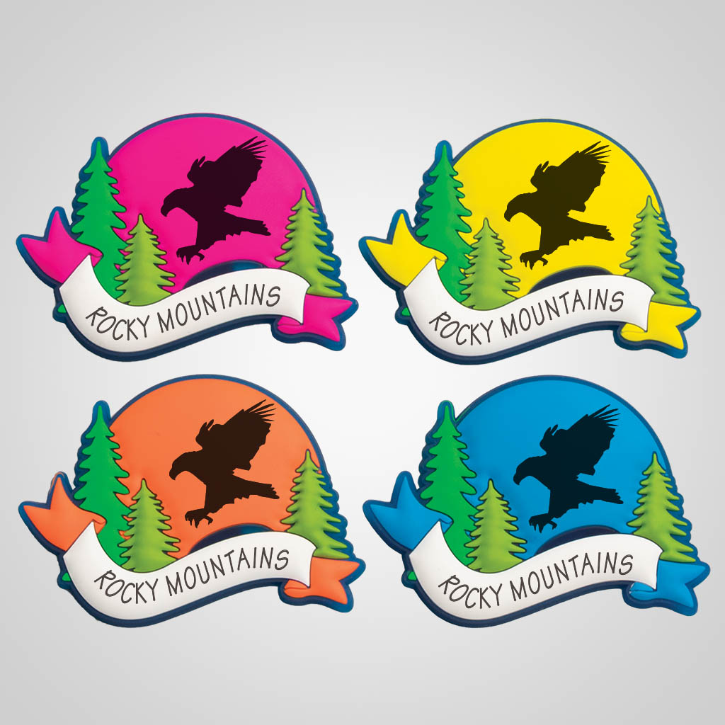 40095EAG - Colorful Arch PVC Magnet, Eagle
