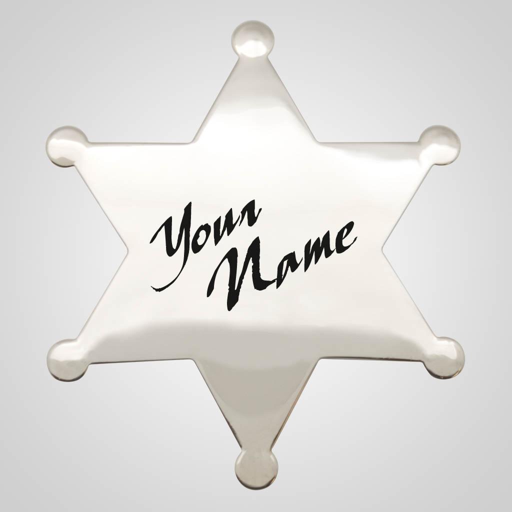 40100 - Sheriff's Badge Magnet, Name-Drop