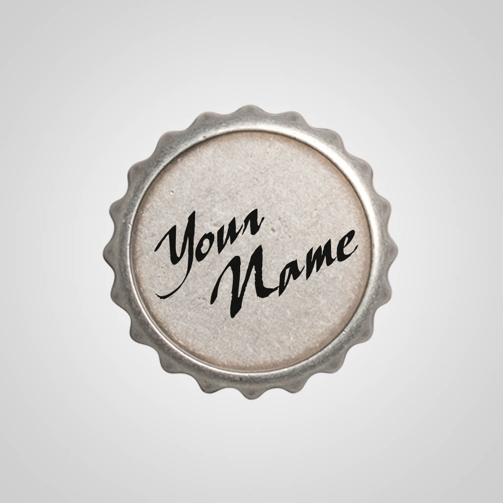 40102 - Bottle Cap Magnet, Name-Drop