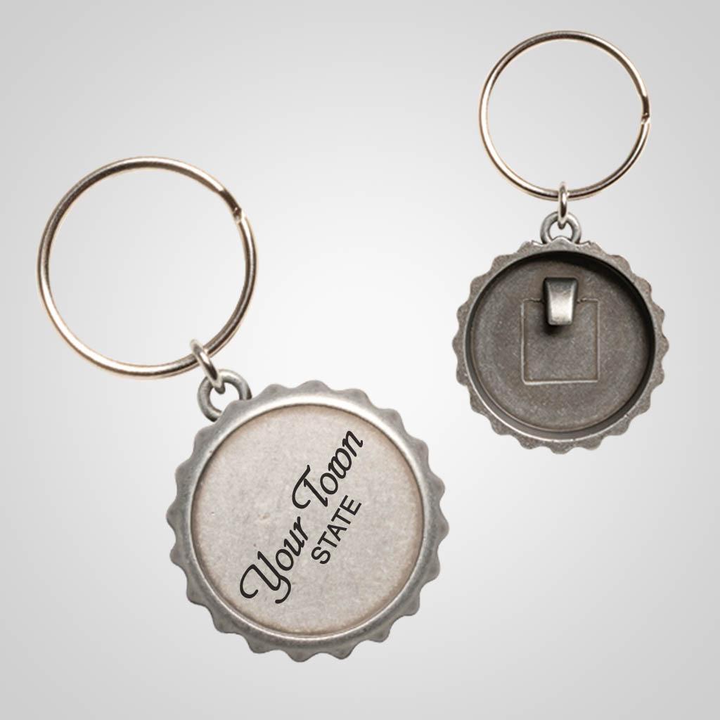 40103 - Bottle Cap Keychain, Name-Drop