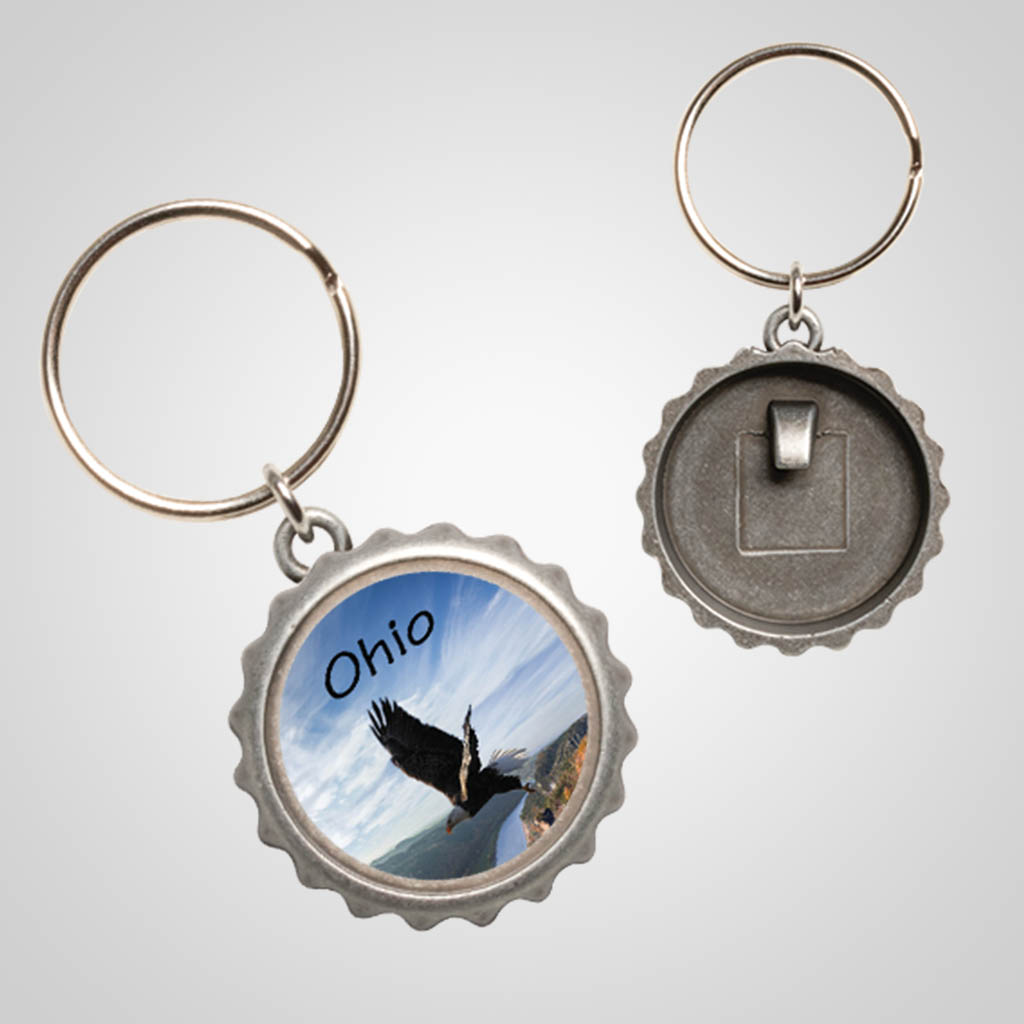 40103JPM - Bottle Cap Keychain, Multi-Color