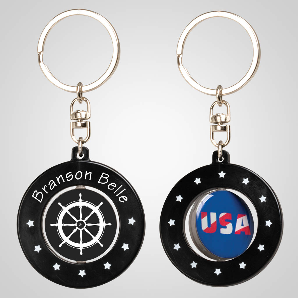 40104JP - Acrylic Spinner Key Chain - One Color
