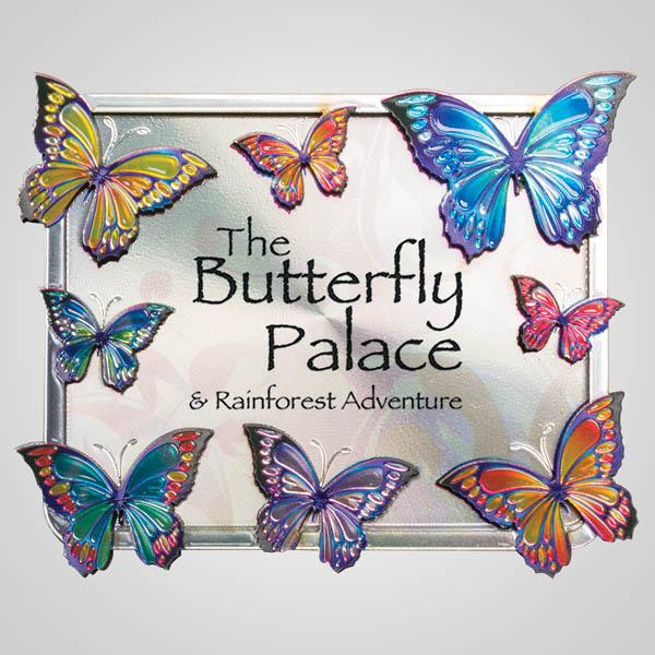 40123JP - Butterflies Bi-Level Foil Magnet, 1 Color