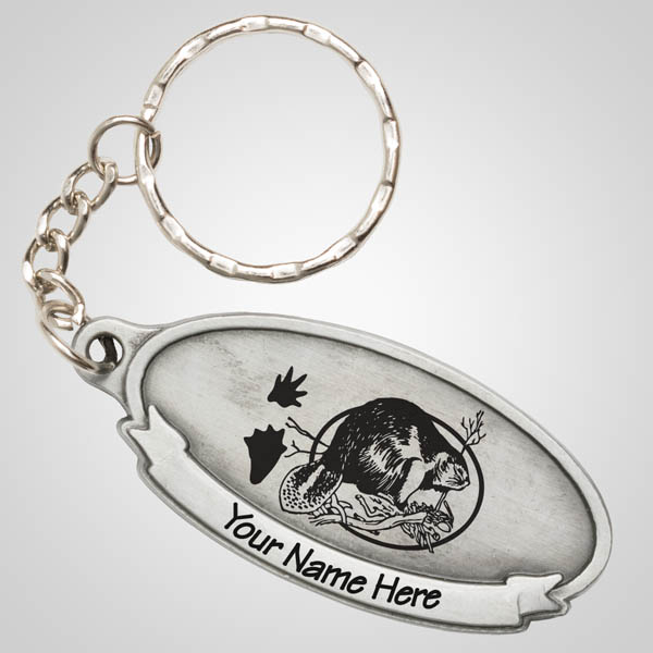 40124JP - Pewter Oval Keychain, 1 Color