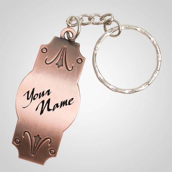 40125 - Copper Nameplate Keychain, Name-Drop