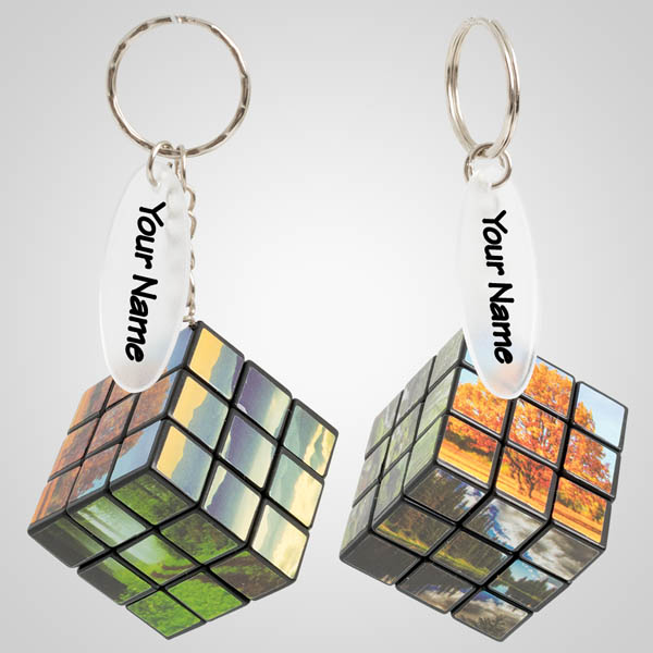 40126 - Wilderness Puzzle Cube Keychain, Name-Drop