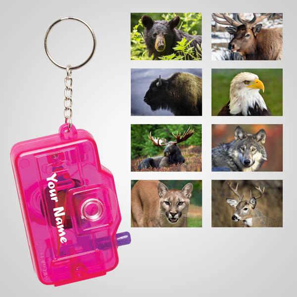 40127 - Mini 8-View Camera Keychain, Name-Drop
