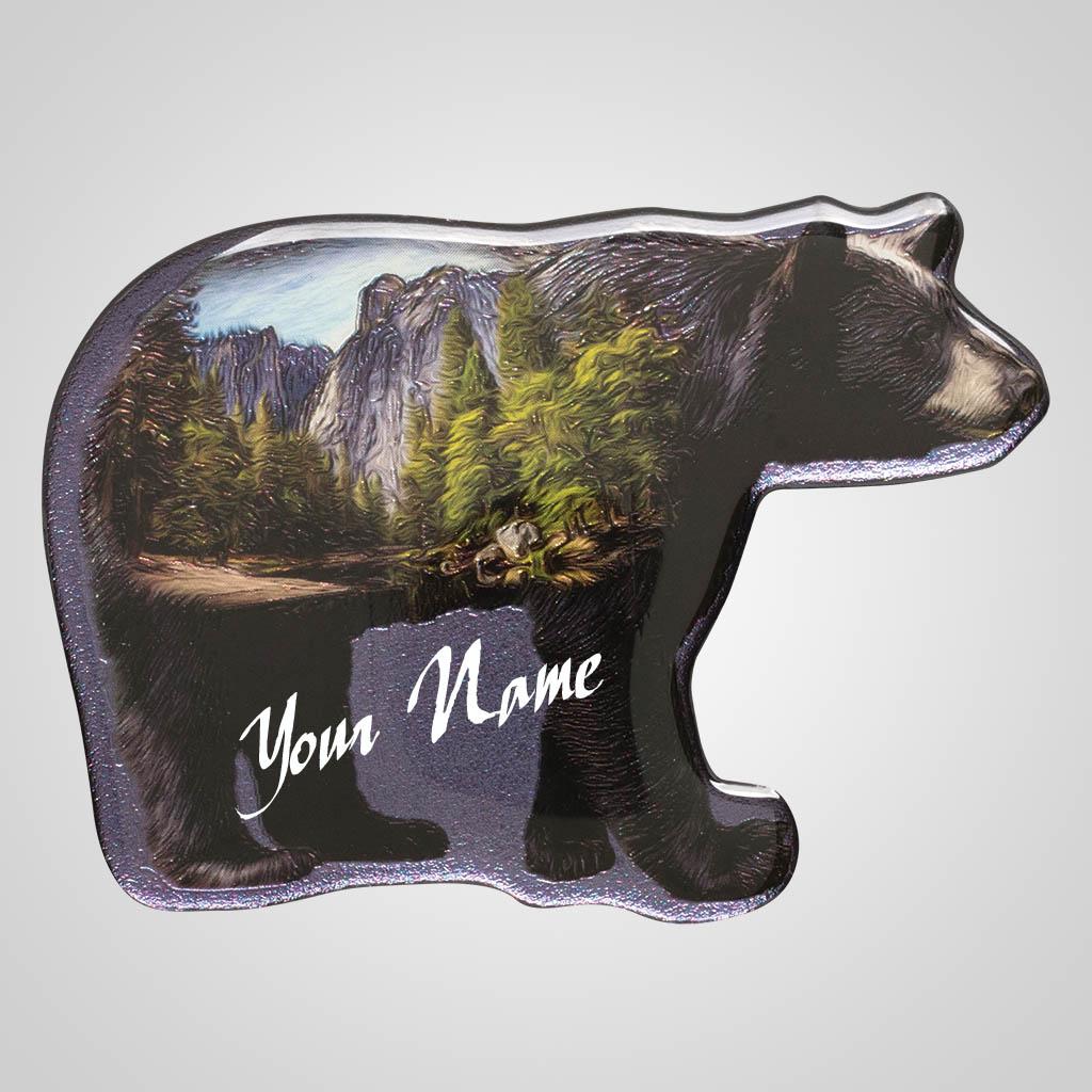 40135 - Foil Bear Magnet, Name-Drop