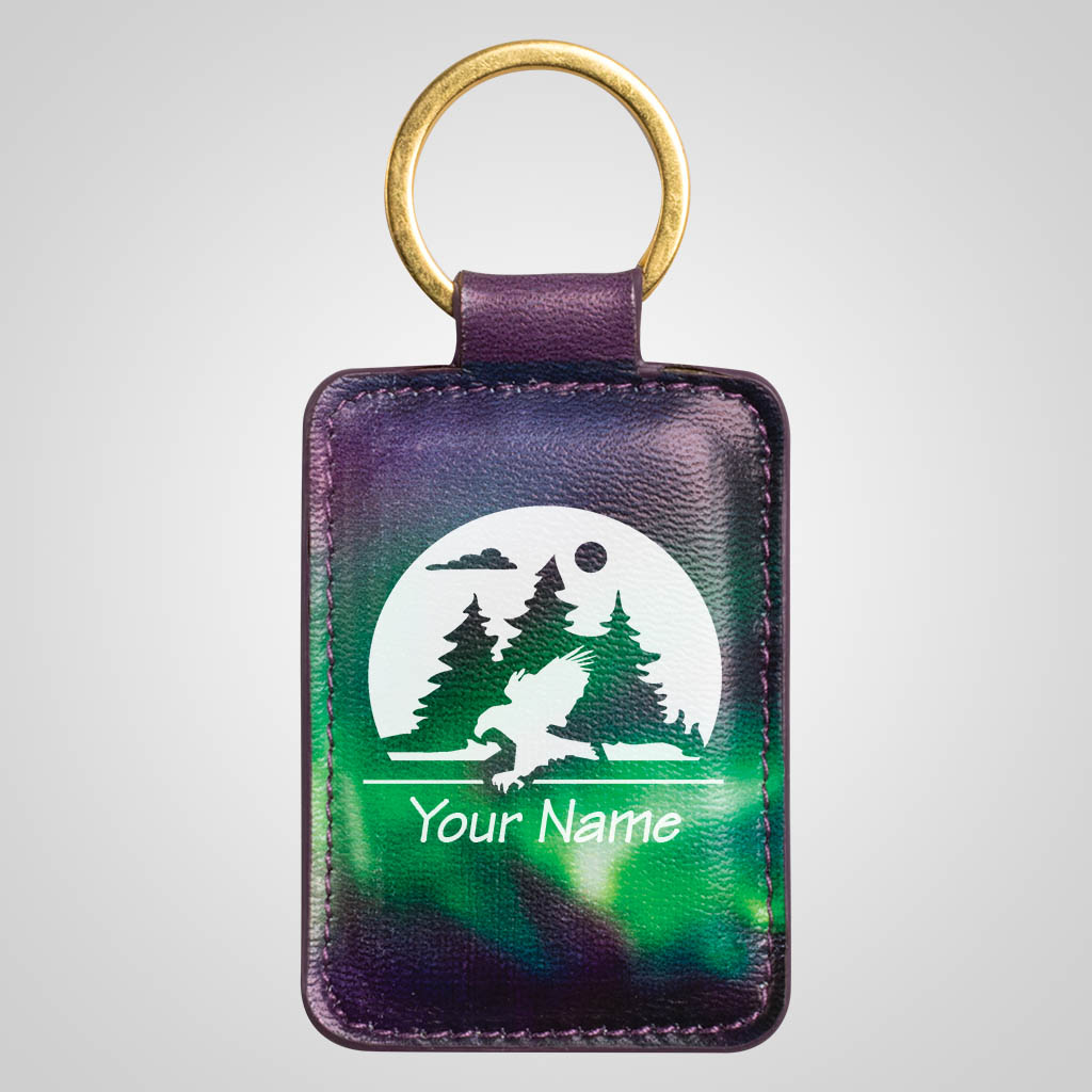 40138JP -  Northern Lights Fob Keychain - 1 Color Print