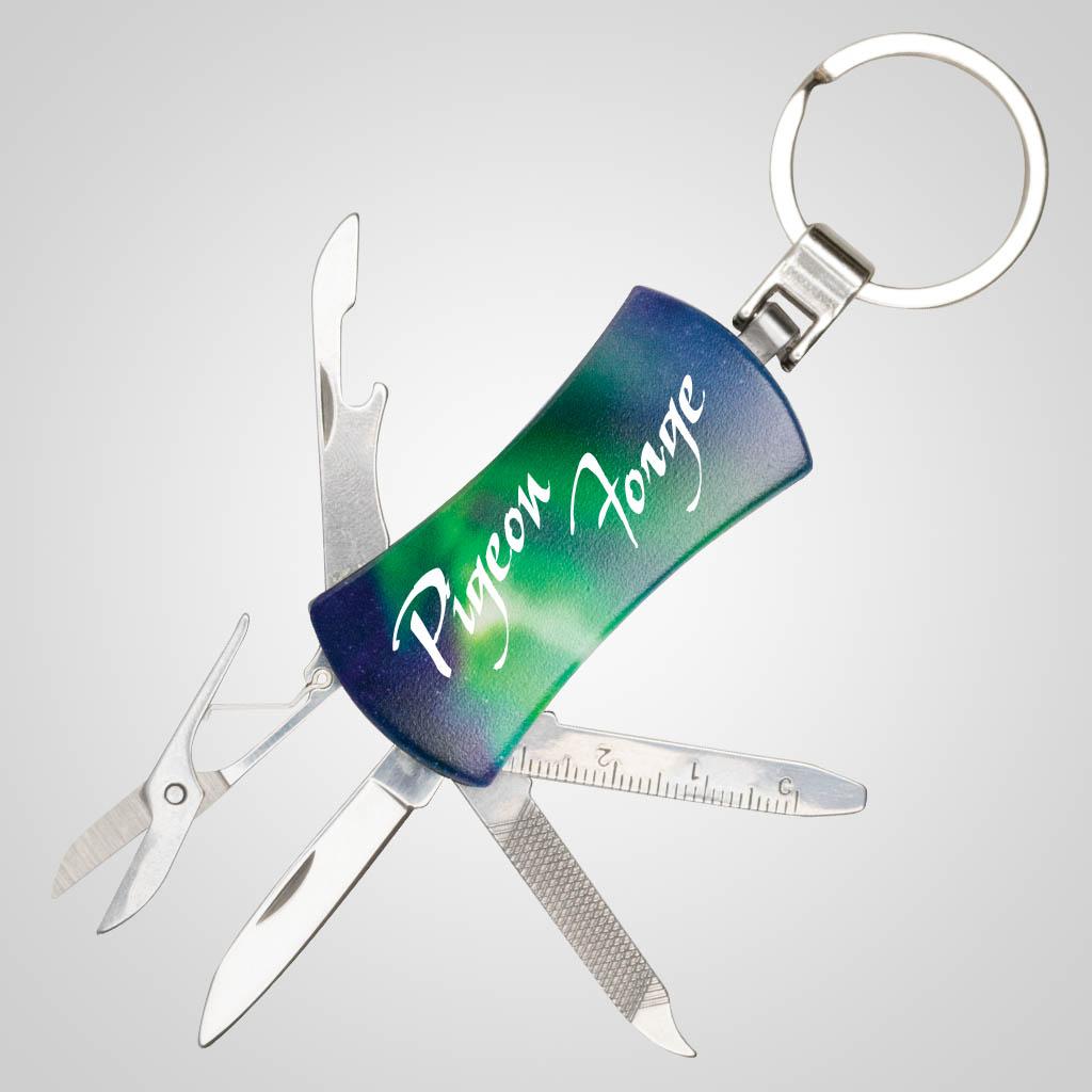 40146 - Northern Lights Pocket Knife Keychain, Name-Drop