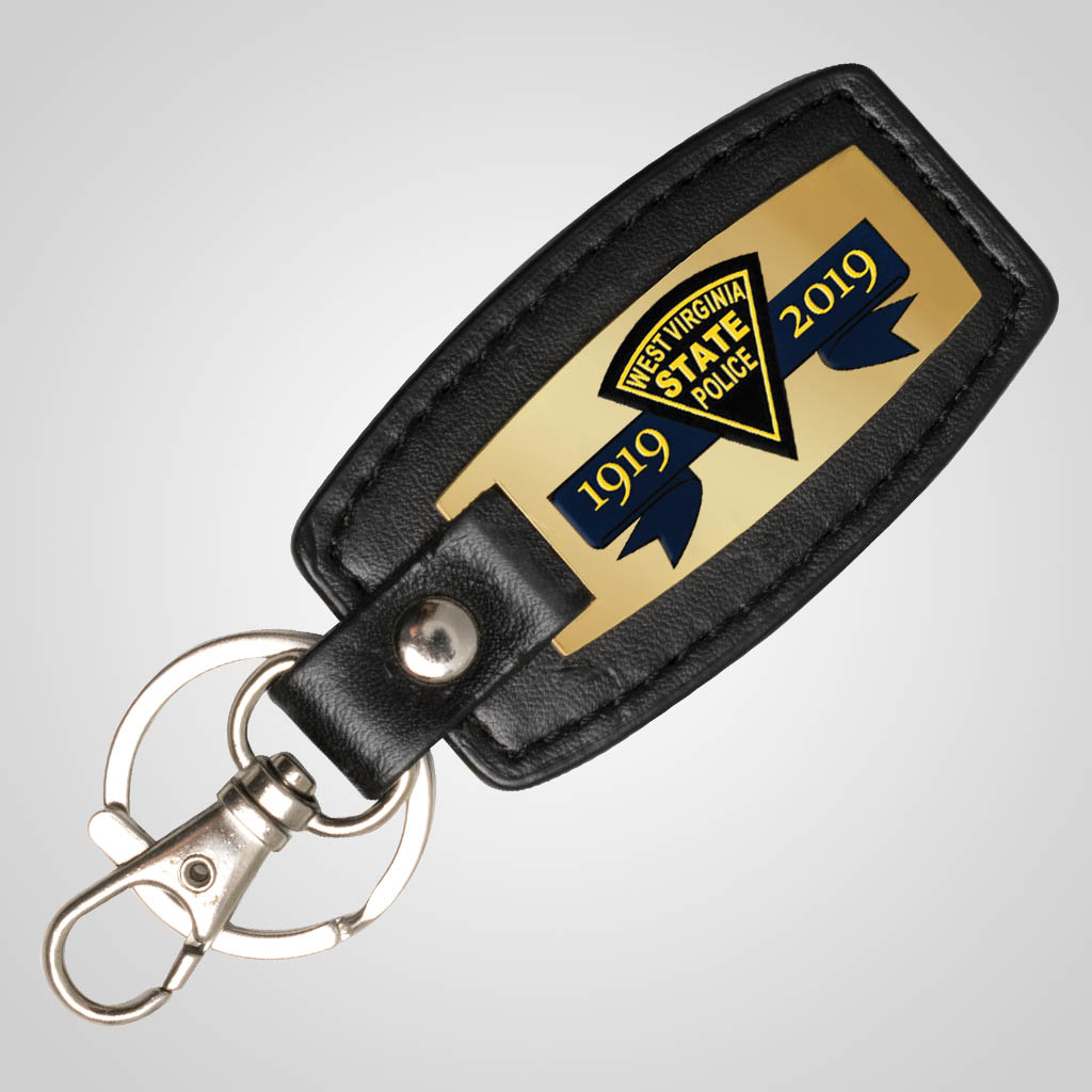 40154JPM - Leatherette & Metal Fob Keychain, Multi-Color