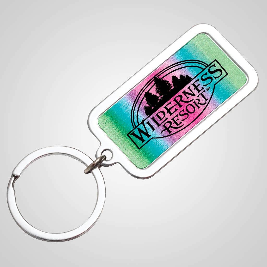 40156JP - Gradient Foil Metal Keychain, 1 Color