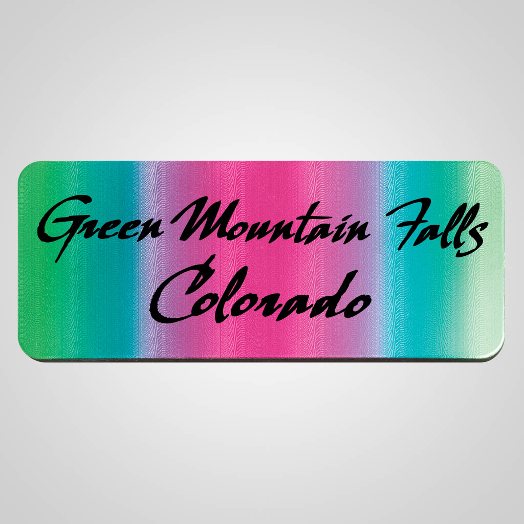 40159 - Gradient Foil Magnet, Name-Drop