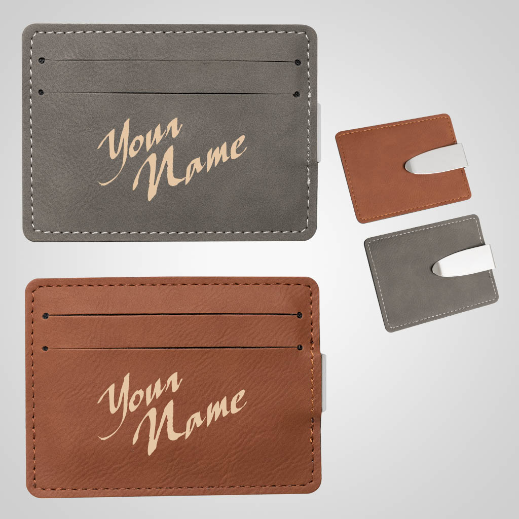 40161 - Leatherette Money Clip, Name-Drop
