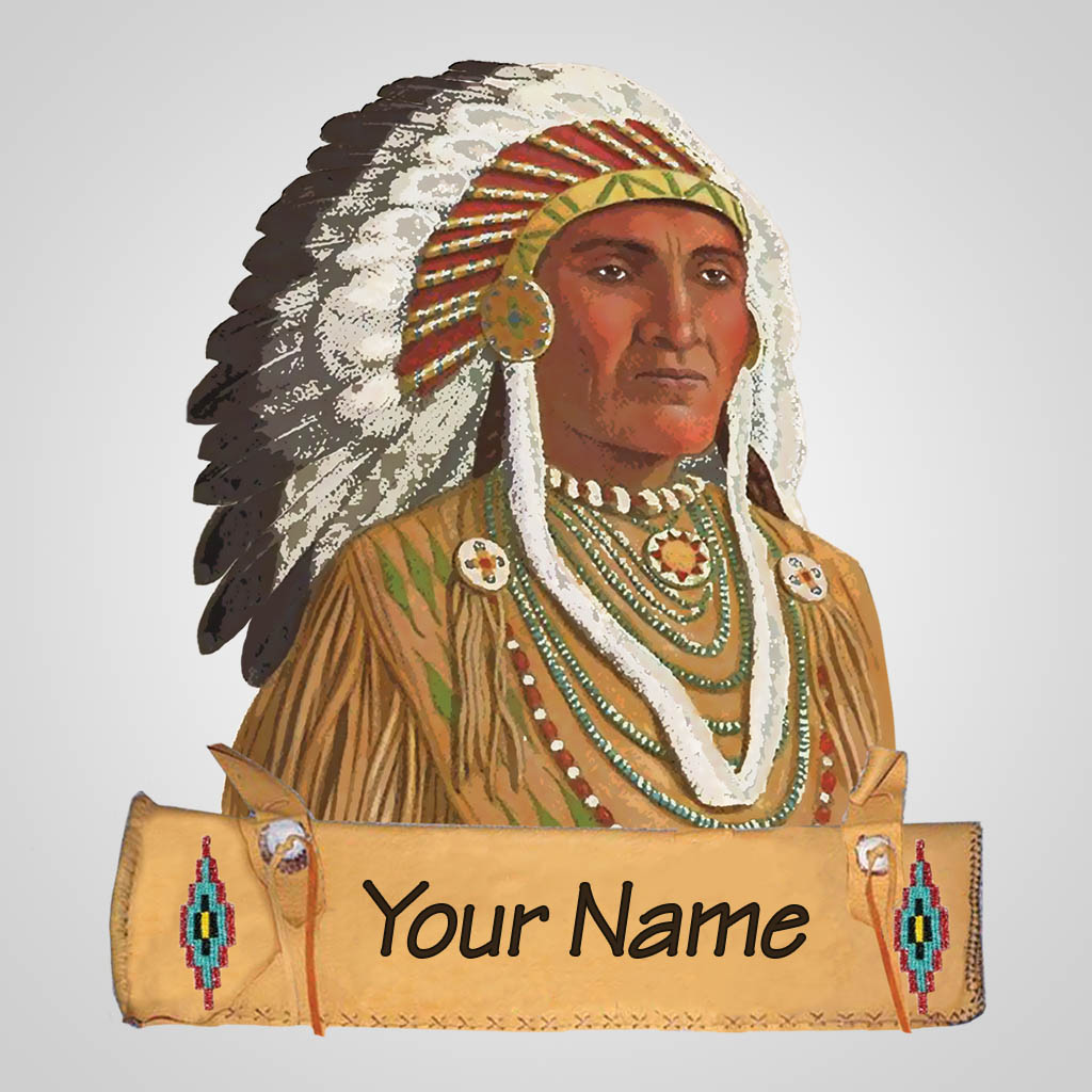 40164 - Native Chief Magnet, Name-Drop