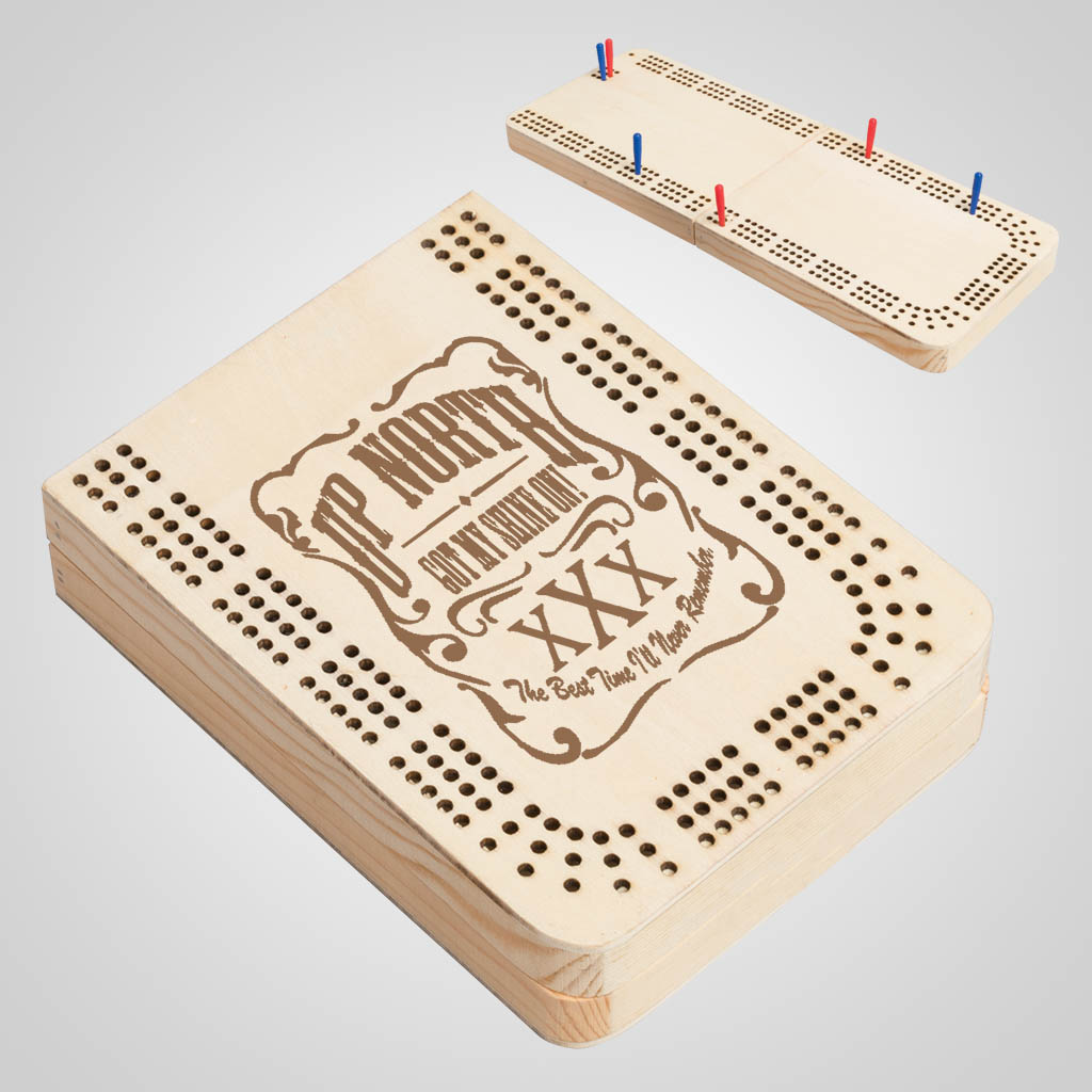 40168JP - Folding Wood Cribbage Board, 1 Color