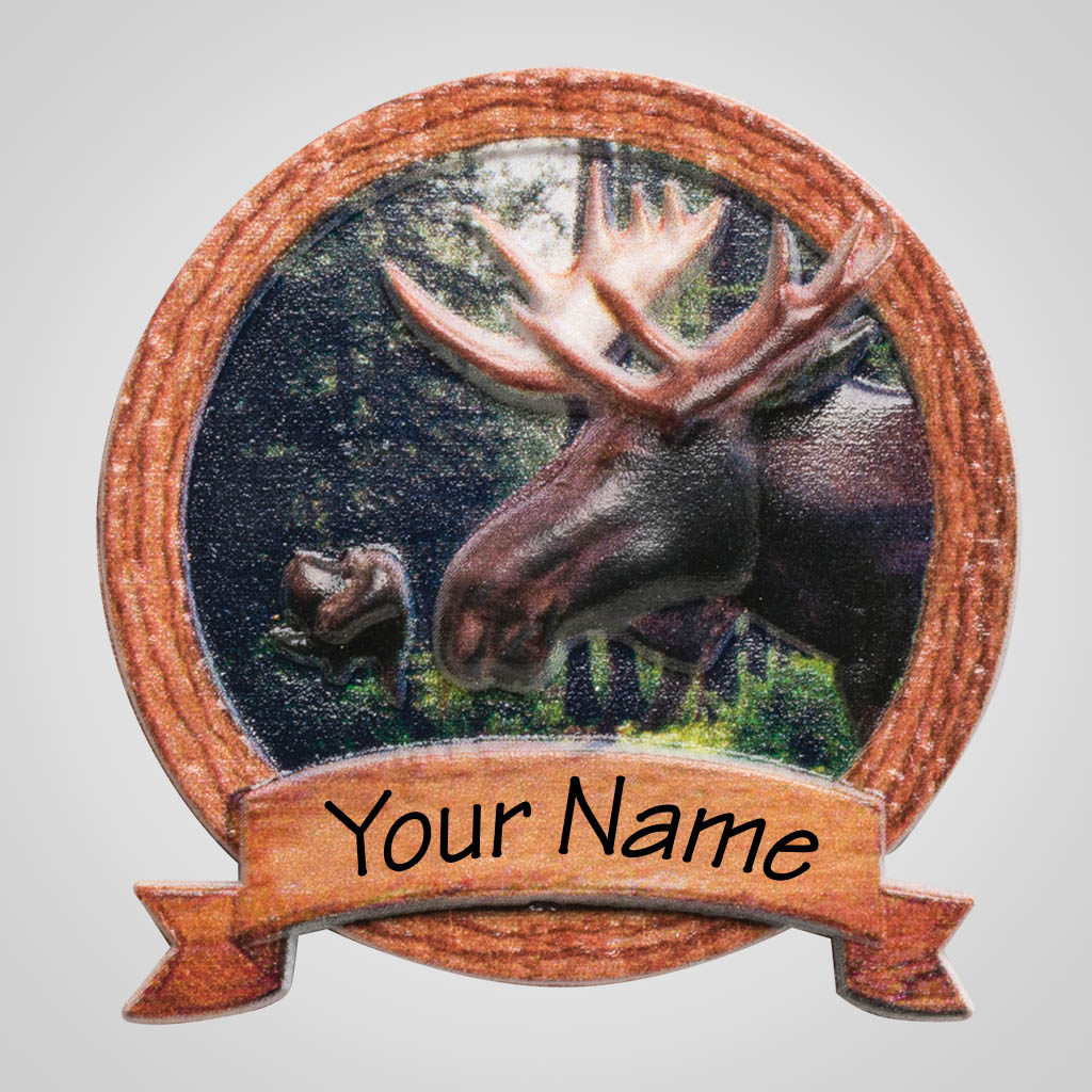 40172 - Framed Moose Head Magnet, Name-Drop