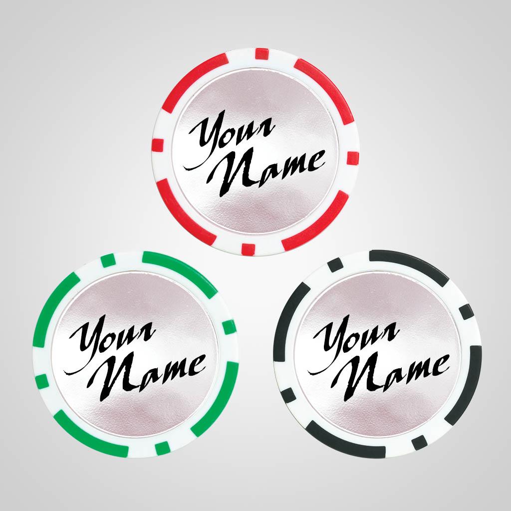 40173 - Poker Chip Magnet, Name Drop