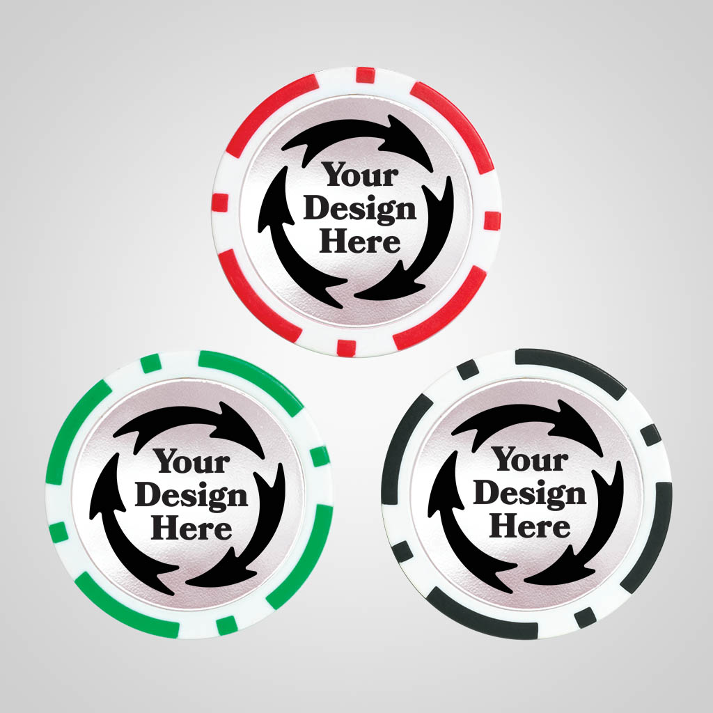 40173JP - Poker Chip Magnet, 1 Color Print