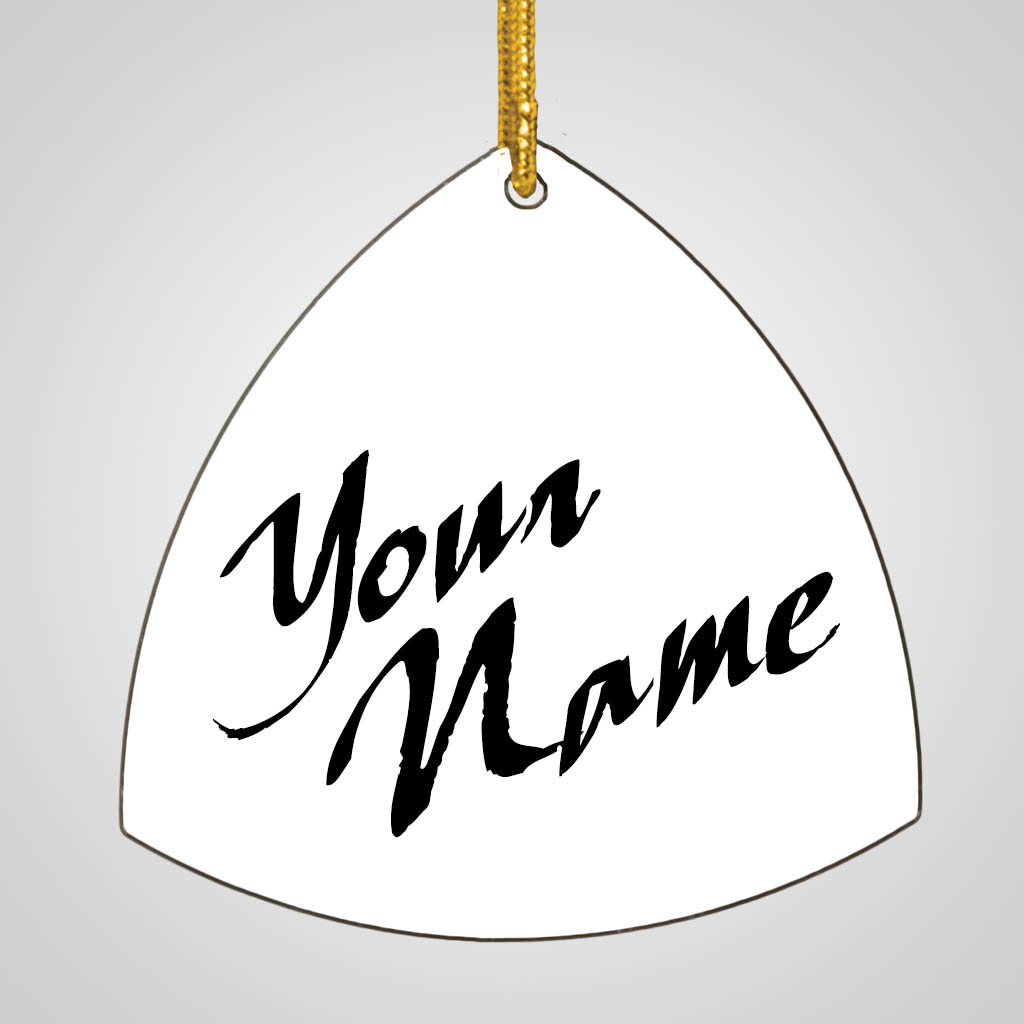 40176 - Rounded Triangle Ornament, Name Drop