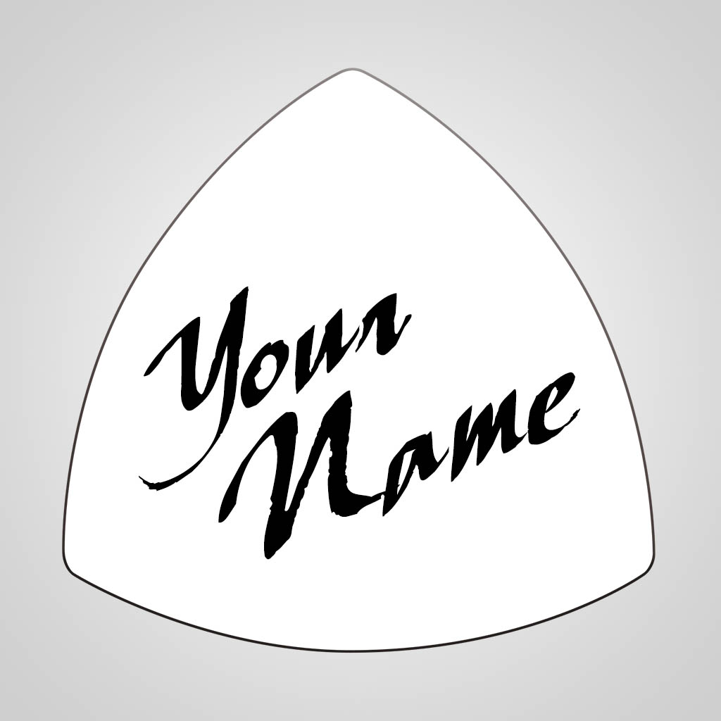 40178 - Rounded Triangle Magnet, Name Drop