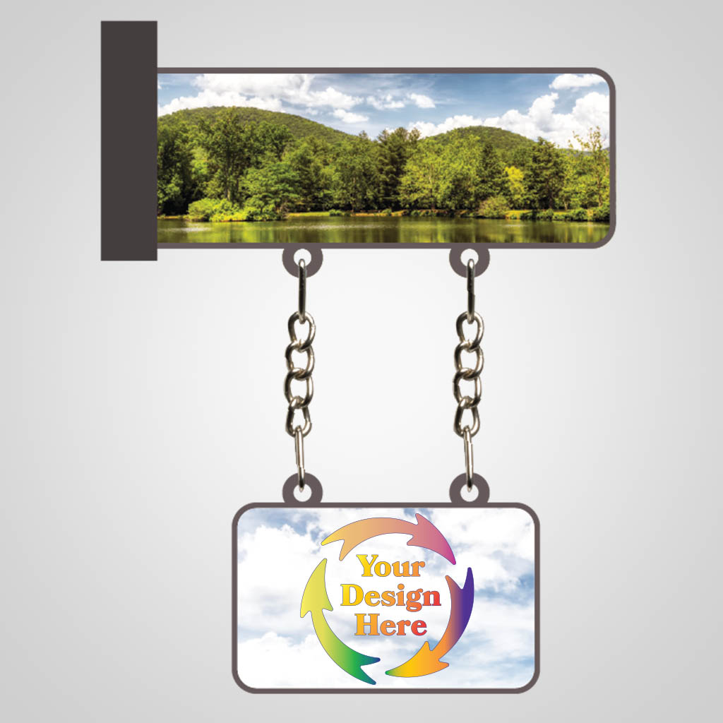 40179JPM - Dimensional Hanging Magnet, Multi Color Print