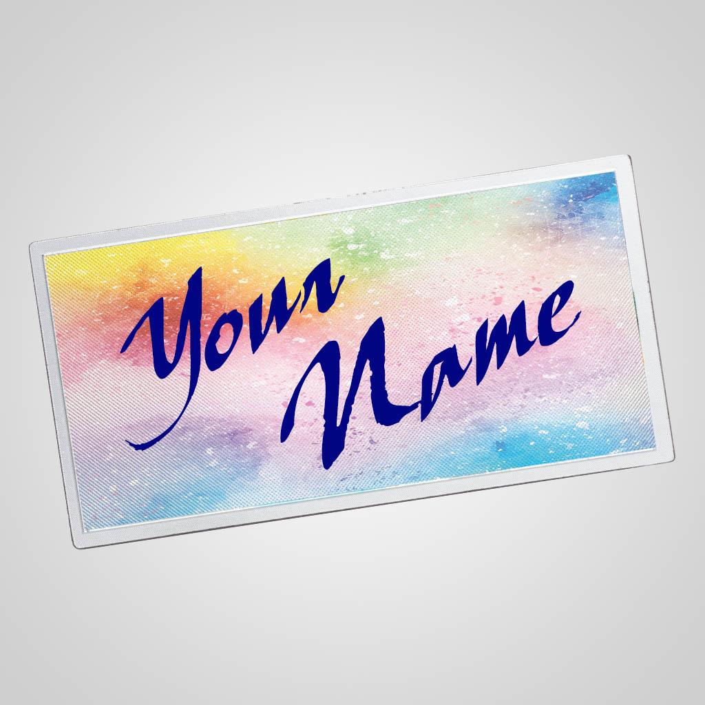 40187 - Watercolor Foil Background Magnet, Name-drop
