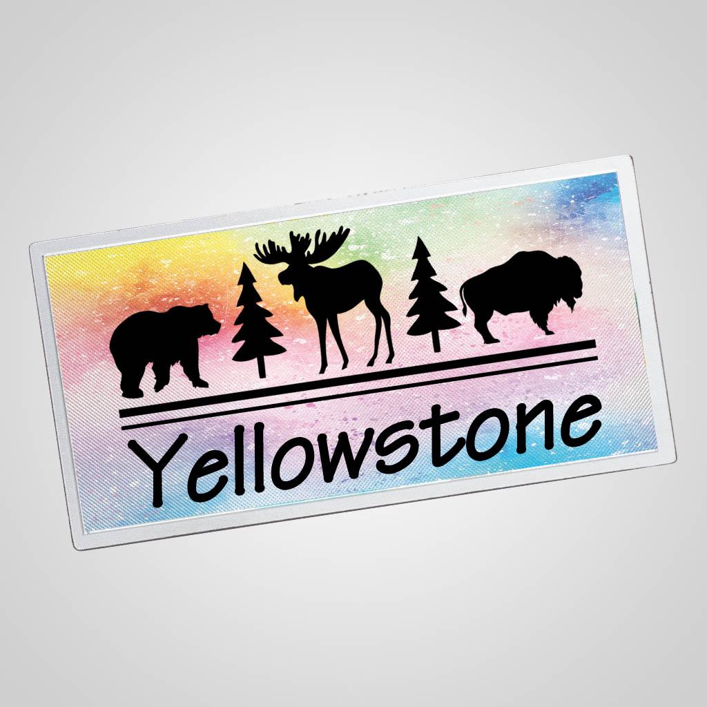 40187JP - Watercolor Foil Background Magnet, 1 Color Print