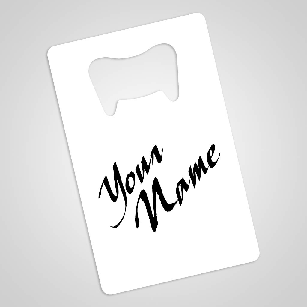 40188 - Rectangular Metal Bottle Opener Magnet, Name-Drop