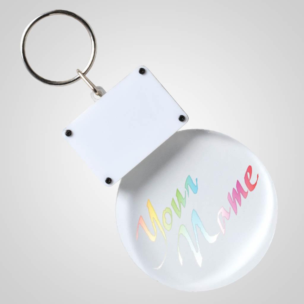 40189 - Light-Up Clear Acrylic LED Keychain, Name-Drop