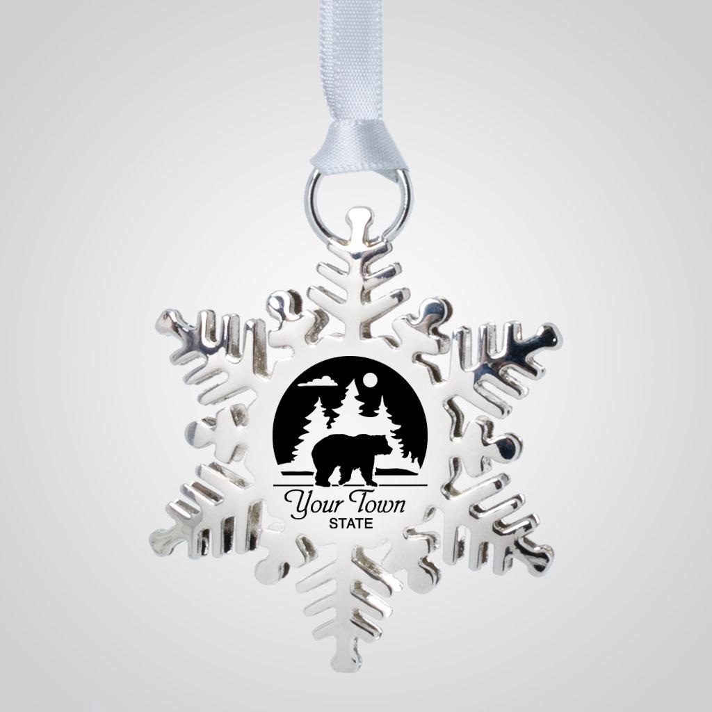 40194JP - Metal Snowflake Ornament, 1 Color Print