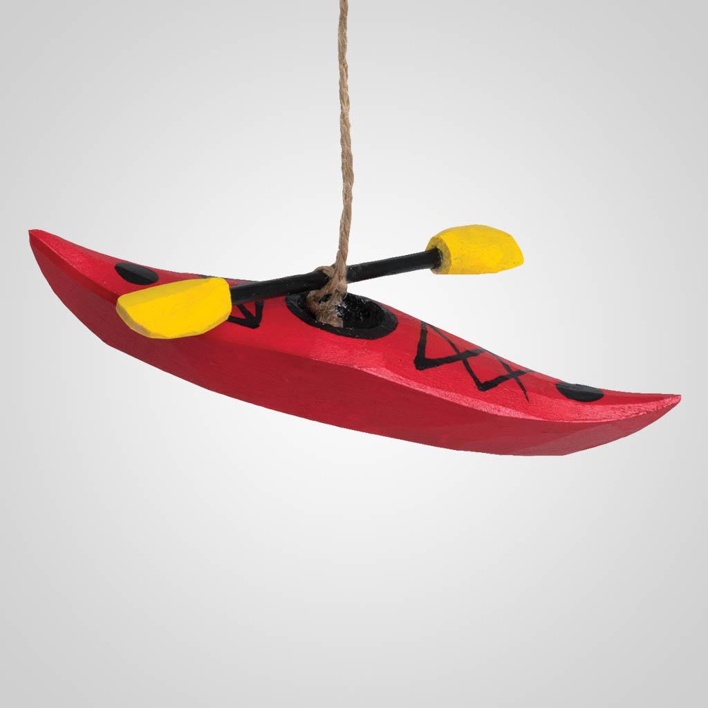 40196 - Wood Kayak Ornament, Name-Drop