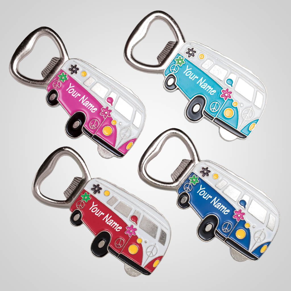 40207 - Hippy Camper Van Bottle Opener, Name-Drop