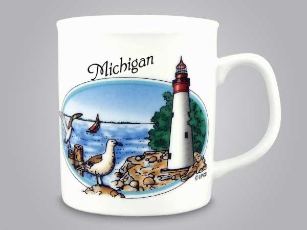 53578MI - Lighthouse Scene Mug, Name-drop