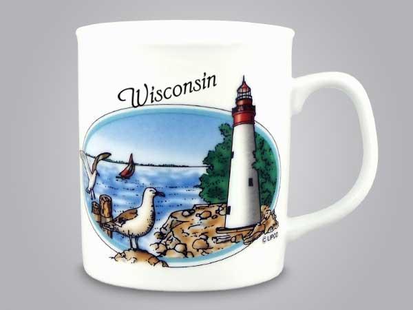 53578WI - Lighthouse Scene Mug, Name-drop