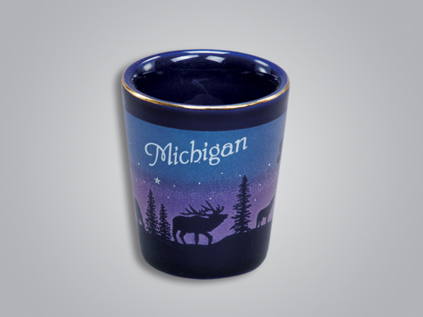 54011YP - Cobalt Elk/Forest Shotglass - Imprinted