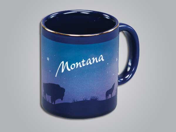 54069NM - Cobalt Prairie Scene Mug - Imprinted