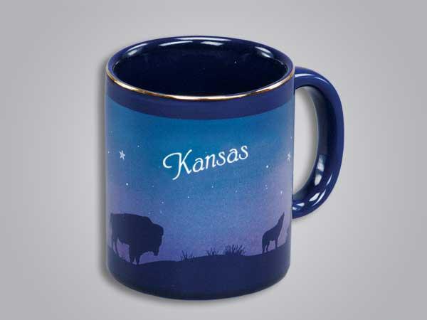 54069KS - Cobalt Prairie Scene Mug - Imprinted