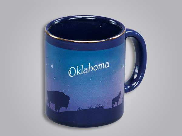 54069OK - Cobalt Prairie Scene Mug - Imprinted