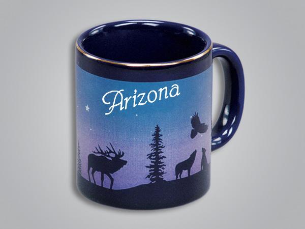 54071AZ - Cobalt Elk/Forest Mug - Imprinted