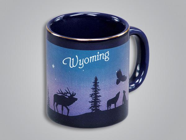 54071WY - Cobalt Elk/Forest Mug - Imprinted