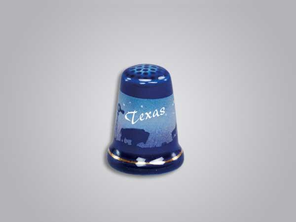 55248TX - Cobalt Prairie Scene Thimble - Imprinted