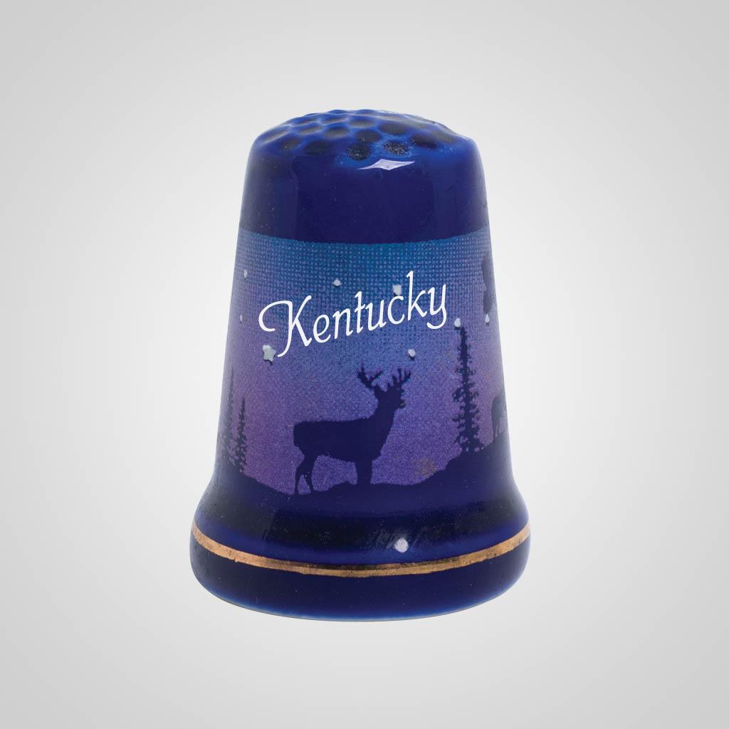55250KY - Cobalt Deer/Forest Thimble, Kentucky